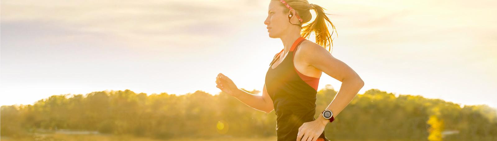 Garmin Woman Running
