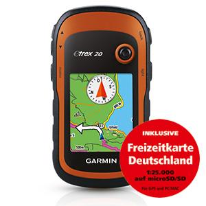eTrex®20 inkl. Freizeitkarte Deutschland