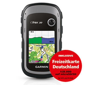 eTrex®30 inkl. Freizeitkarte Deutschland