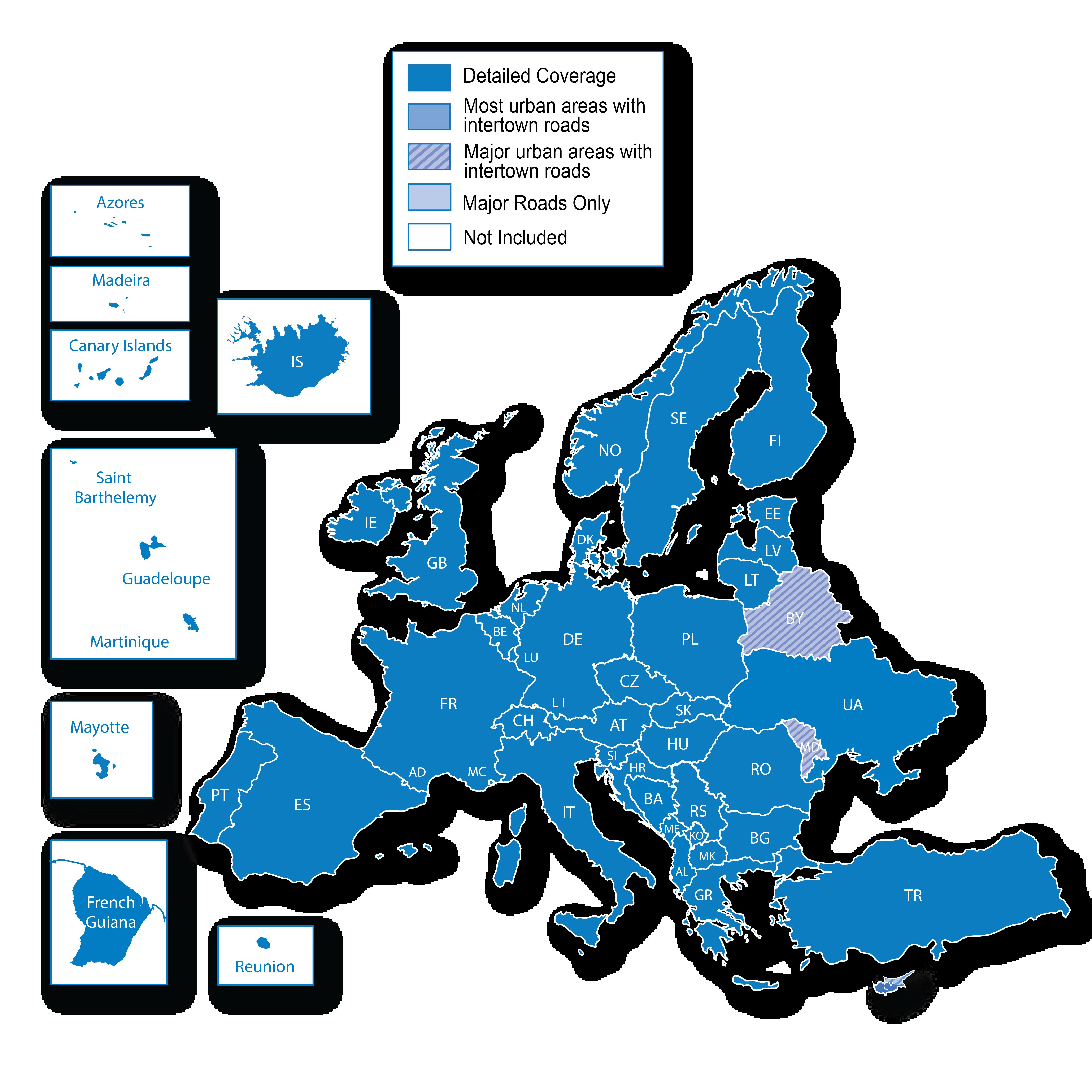 Länder Europas Karte.Europa Kartenregionen Länder Und Gebiete Die Als Regionen Während