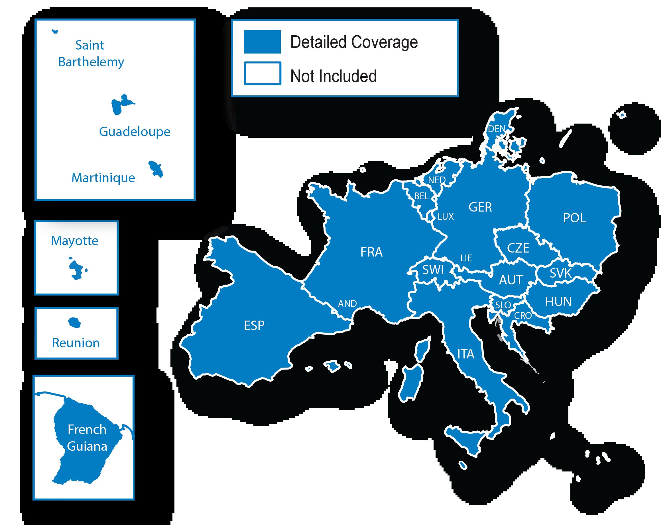 Teneriffa Karte Europa.Europa Kartenregionen Lander Und Gebiete Die Als Regionen