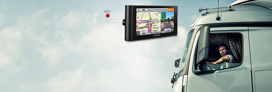 Truck sat nav with Dash cam.