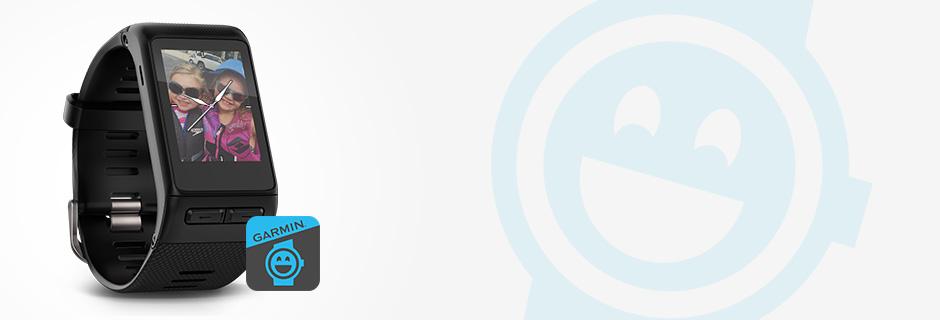 Bär ett foto på handleden | Garmin Face-It™ mobilapp