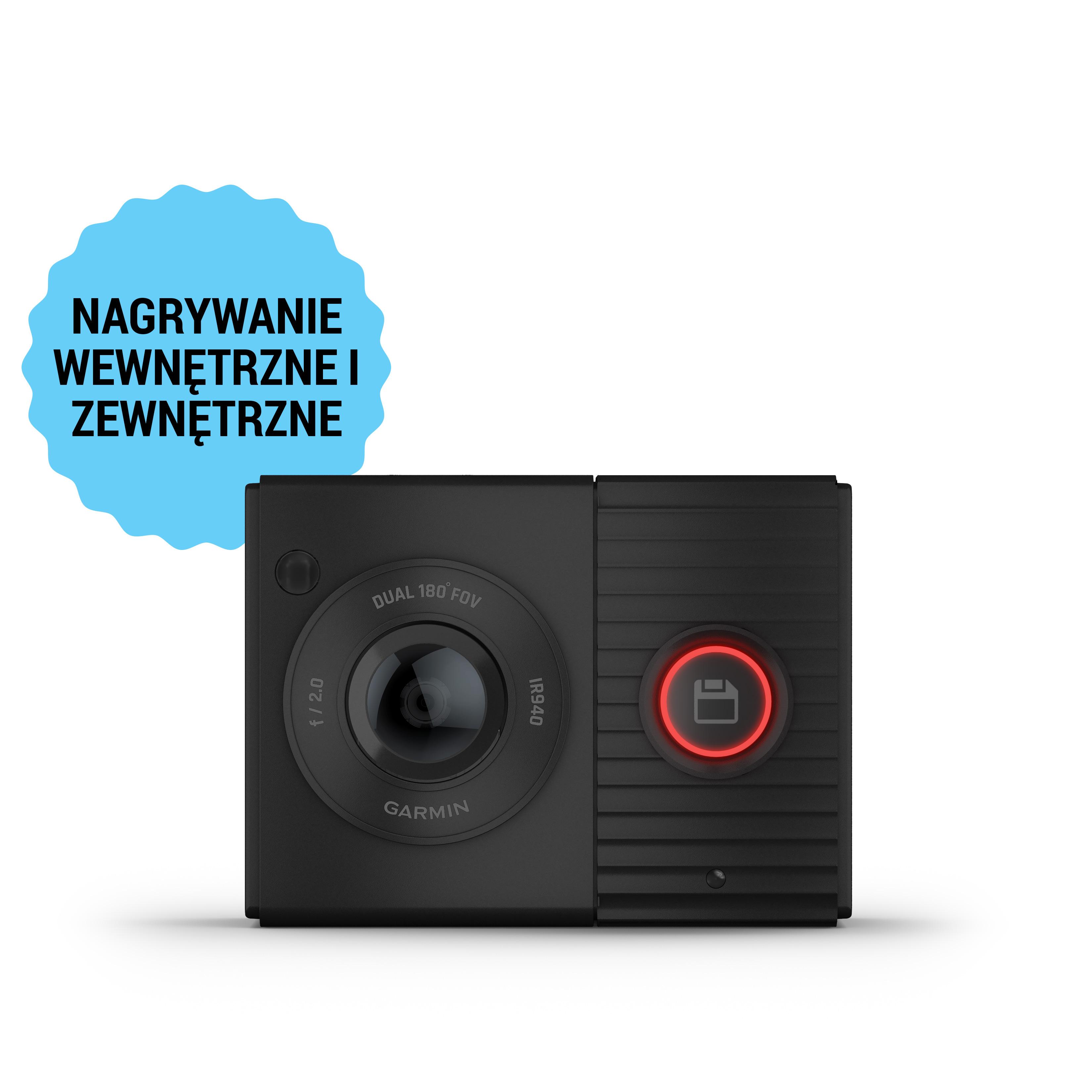 Dwuobiektywowa kamera samochodowa Garmin Dash Cam™