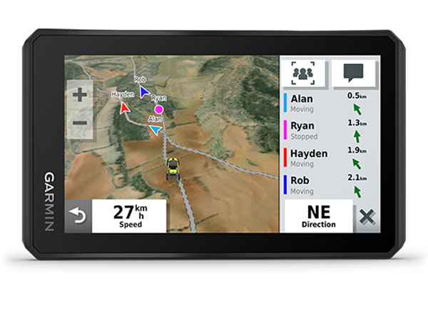 NUEVO TREAD™ POWERSPORT NAVEGADOR SATELITAL CON GROUP RIDE TRACKER