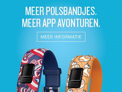 Meer polsbandjes. Meer App avonturen.