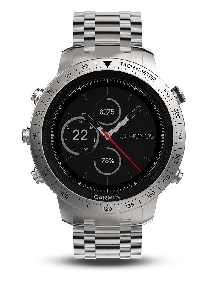 bc655f6a138 fēnix Chronos - Steel with Brushed Stainless Steel Watch Band