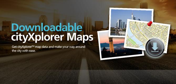 Downloadable cityXplorer™ maps