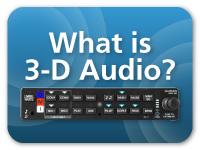 O que é áudio em 3-D?