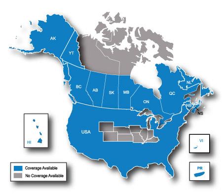 Approach S North America Garmin - Us border zone map