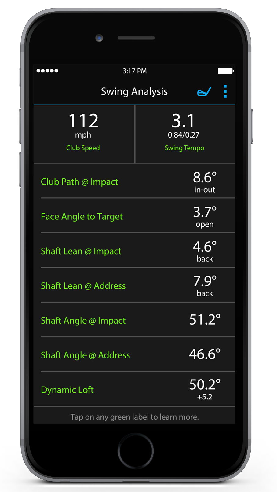 Garmin Connect Mobile App for Golf