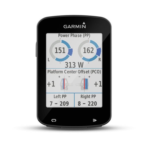 Garmin Edge 820 Vector Power Meter Screens