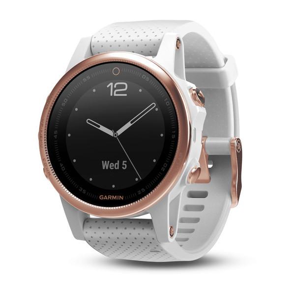 Garmin fenix 5s HR, Silver, bracelet blanc carrara