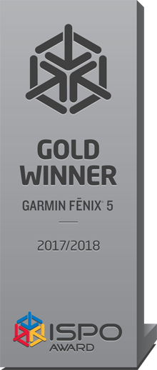ISPO Gold Award Garmin Fenix 5