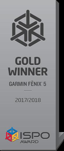 ISPO Gold Award Garmin Fenix 5