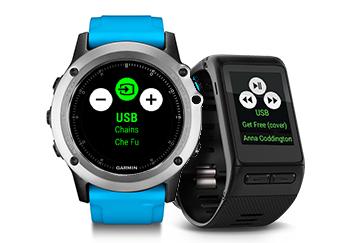 Garmin smartwatch control