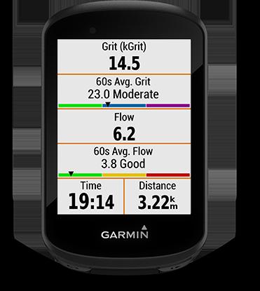 Edge 530 con schermata Grit e Flow