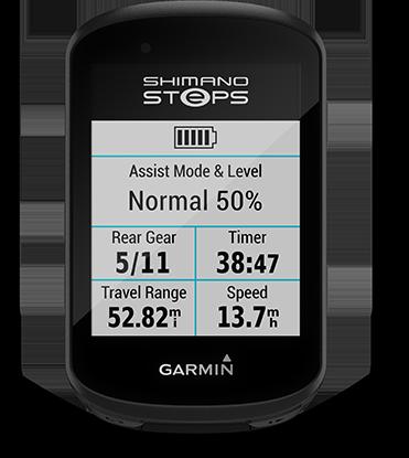 Edge 530 mountain bike bundle con la pantalla de SHIMANO