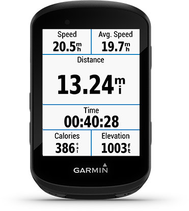 Edge 530 com ecrã do Garmin Connect