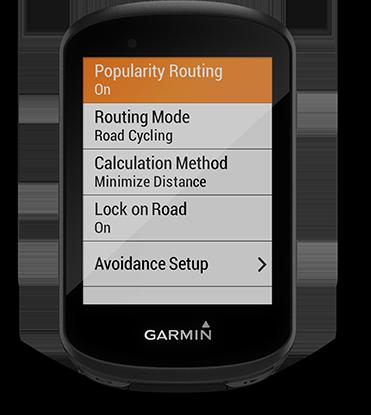 Edge 530 mountain bike bundle con la pantalla de Trendline