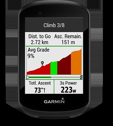 Edge 530 mountain bike bundle con la pantalla de ClimbPro