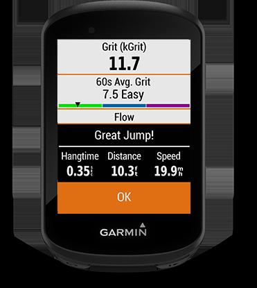 Edge 530 mountain bike bundle con la pantalla de métricas de ciclismo de montaña