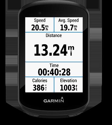 Edge 530 mountain bike bundle con la pantalla de Garmin Connect