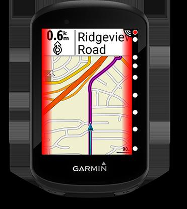 Edge 530 mountain bike bundle con la pantalla de Varia