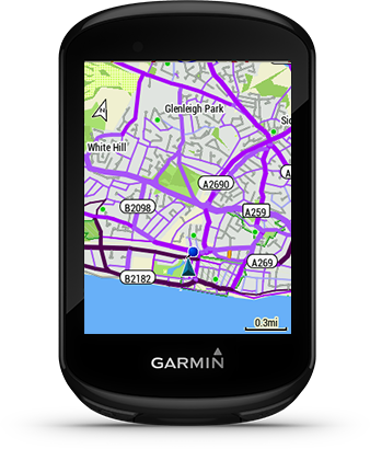 Edge 830 ja Garmini jalgrattasõidukaart