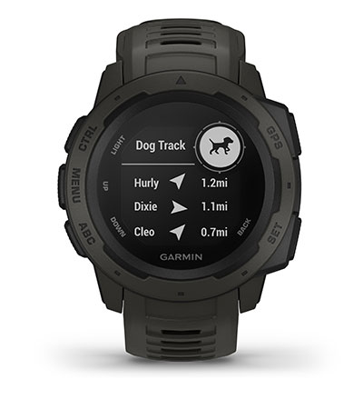 Instinct Tactical with dog tracking device pairing screen