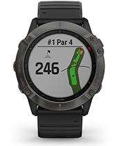 fēnix 6X Pro & Sapphire with golf courses screen