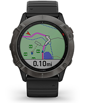 fēnix 6X Pro & Sapphire with navigation screen
