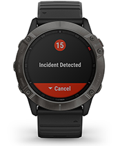 fēnix 6X Pro & Sapphire with safety and tracking features screen