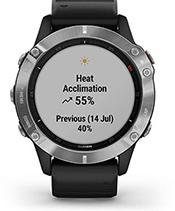 fēnix 6 with performance metrics screen