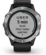 Đồng hồ garmin fēnix® 6 Silver with Black Band 35