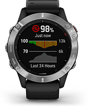 fēnix 6 with pulse ox sensor screen