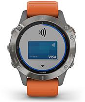 fenix 6 Pro y Zafiro con la pantalla de Garmin Pay