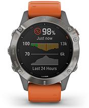 fenix 6 Pro y Zafiro con la pantalla de sensor de pulsioximetría