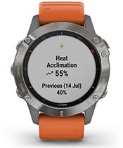fēnix 6 Pro i Sapphire z ekranem statystyk efektywności