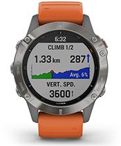 fenix 6 Pro y Zafiro con la pantalla de ClimbPro