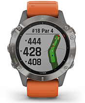 fēnix 6 Pro & Sapphire with golf courses screen