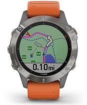 fenix 6 Pro y Zafiro con la pantalla de navegación