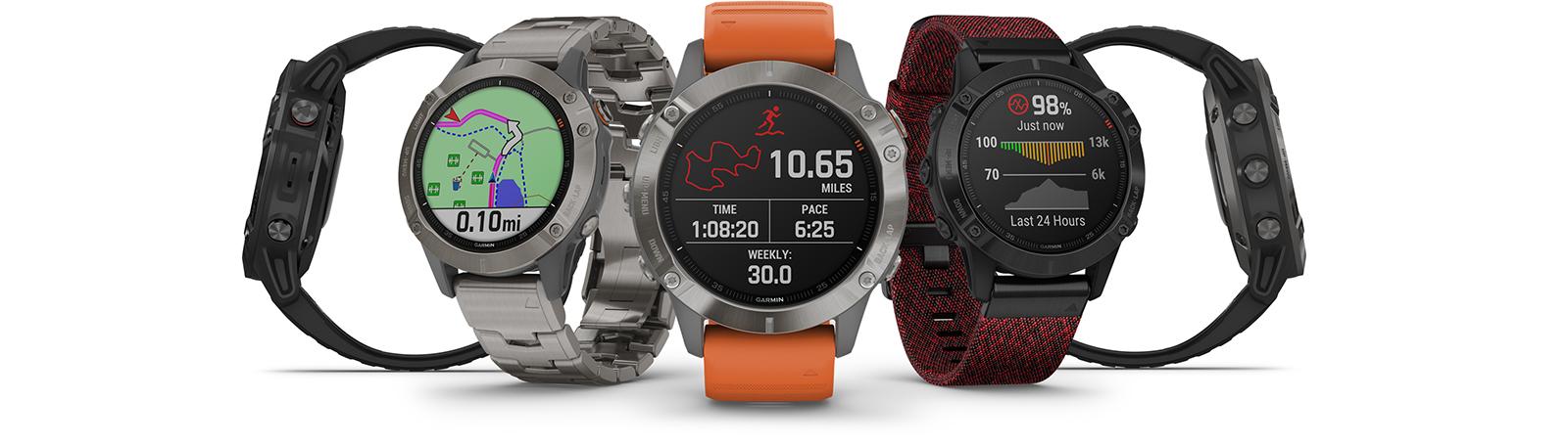 Verzameling van 5 fēnix smartwatches