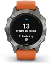 fēnix 6 Pro & Sapphire with respiration tracking screen