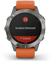 fēnix 6 Pro & Sapphire with safety and tracking features screen