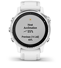 fēnix 6S with performance metrics screen