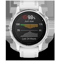 fēnix 6S con la pantalla de sensor de pulsioximetría