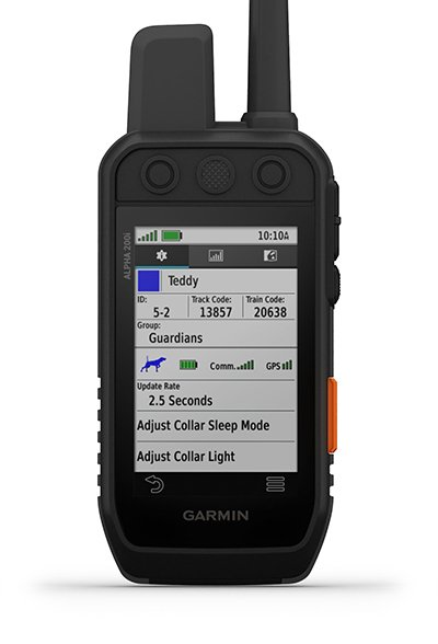 Alpha 200i handheld with dog list screen