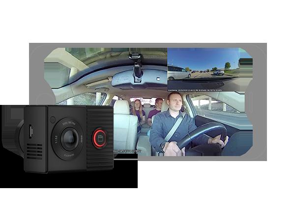 GARMIN | Cameră de bord cu obiectiv dublu de 180 de grade - Garmin Dash Cam™ Tandem 4