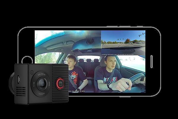 GARMIN | Cameră de bord cu obiectiv dublu de 180 de grade - Garmin Dash Cam™ Tandem 3
